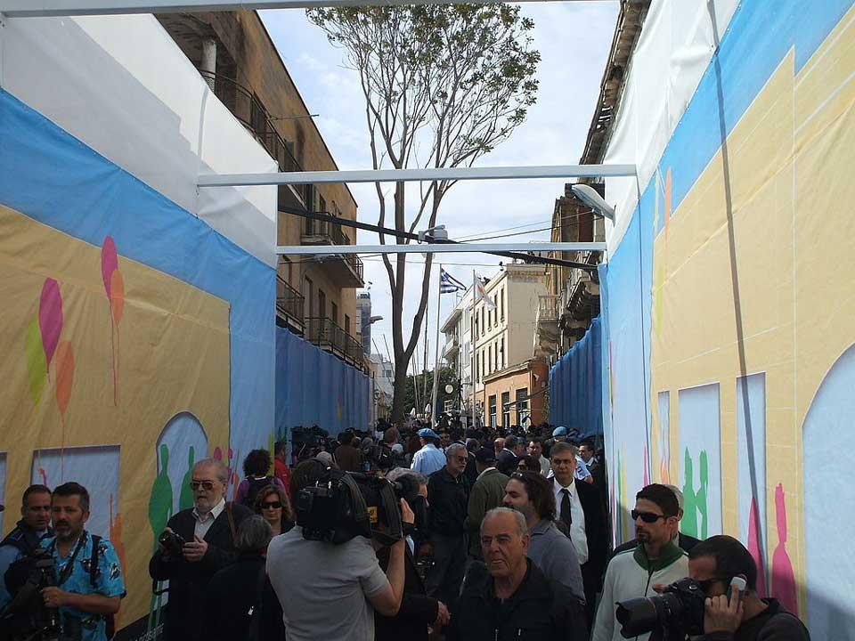 Ledra street Nicosia opening 2008