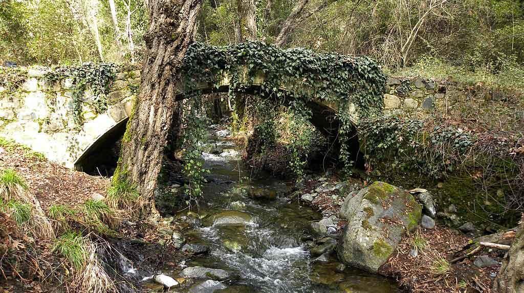 Wandelen Cyprus Troodos Milia brug